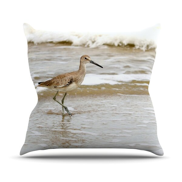 The Waves Outdoor Throw Pillow by East Urban Home