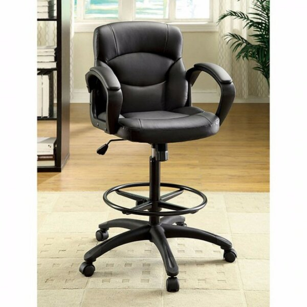 Rodriguez Contemporary Leather Office Chair by Latitude Run