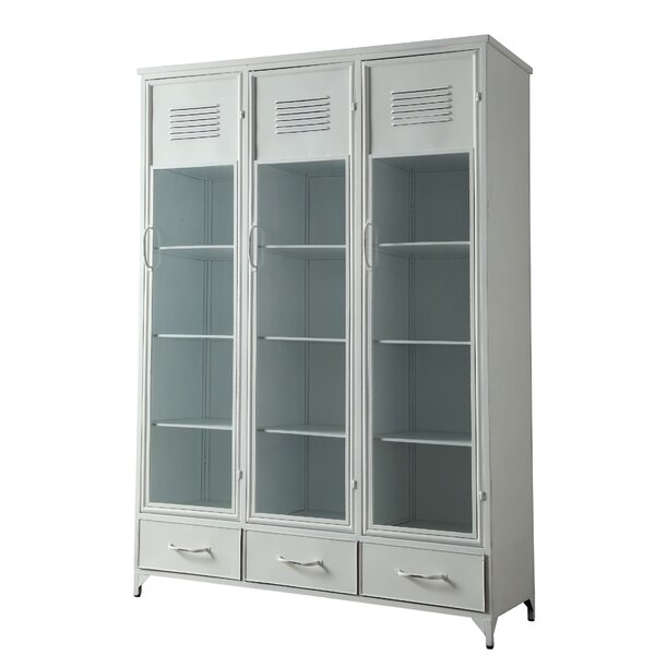Kallas Metal Locker China Cabinet by Bungalow Rose