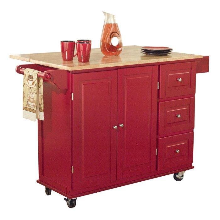 Kitchen Furniture Store: Three Posts Hardiman Kitchen Island With Wood Top