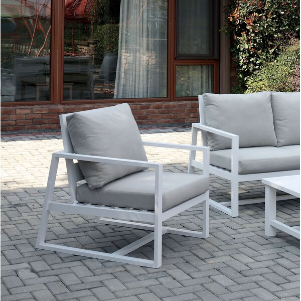 Carvalho Patio Dining Chair with Cushion by Brayden Studio