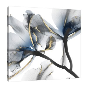 'Indigo Luster Cyclamen 2' Graphic Art Print on Wrapped Canvas by Mercer41