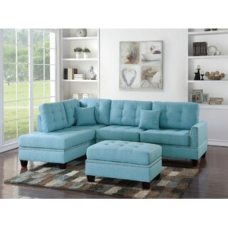 Whitner Left Hand Facing Sectional with Ottoman by Latitude Run SKU:CA968788 Description