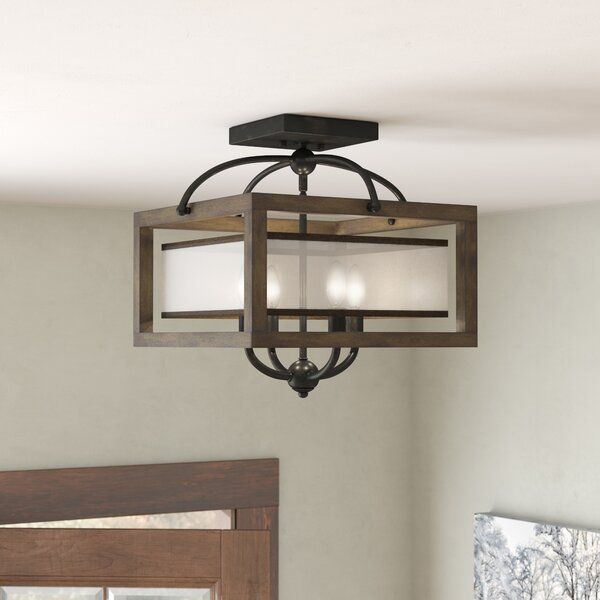Bundoran 4-Light Square/Rectangle Chandelier by Lo