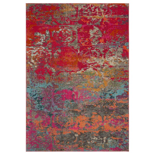 Arianna Fuchsia/Blue Area Rug by Bungalow Rose