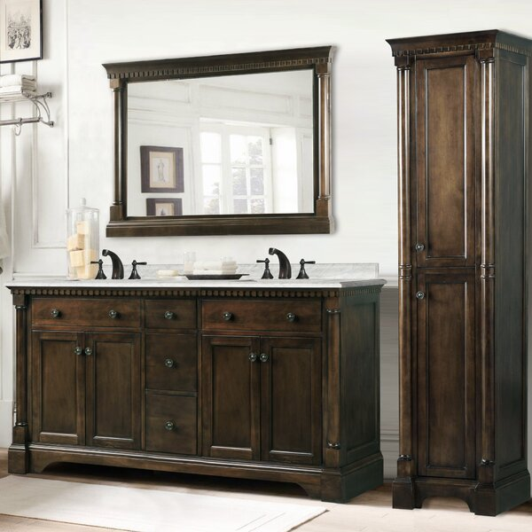 Little Italy 61 Double Bathroom Vanity Set by Darby Home Co