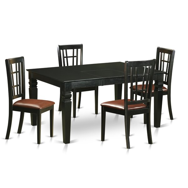 Septimus 5 Piece Extendable Dining Set by August Grove