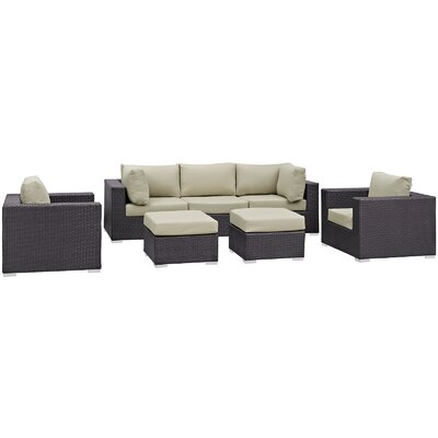 Sol 72 Outdoor Rattan Sectional Set Cushions Color Seating Groups