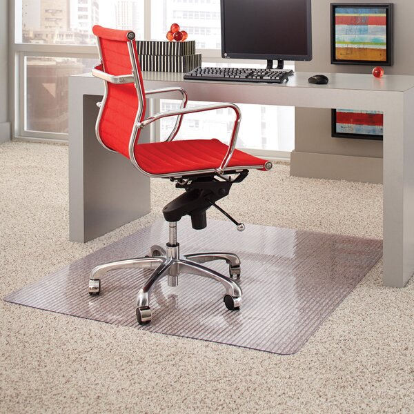 Linear Rectangular Medium Pile Carpet Straight Edge Chair Mat by ES Robbins Corporation