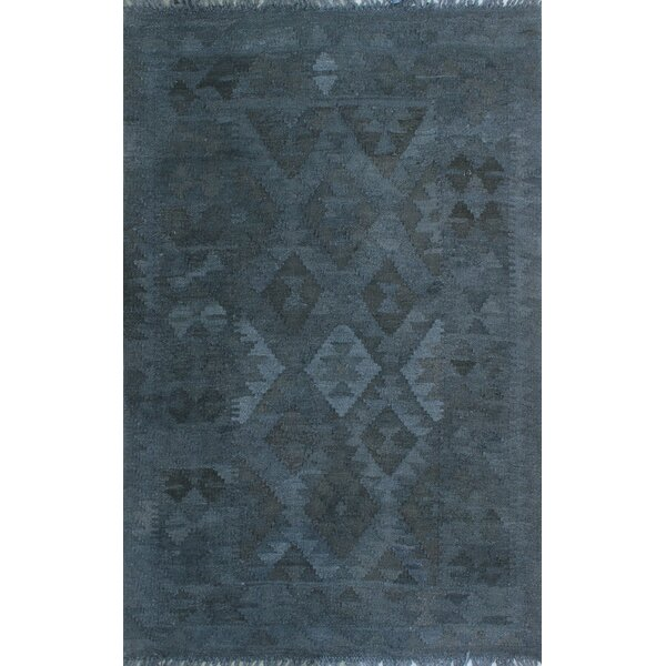 Earle Hand-Knotted Wool Gray Area Rug by Bloomsbury Market