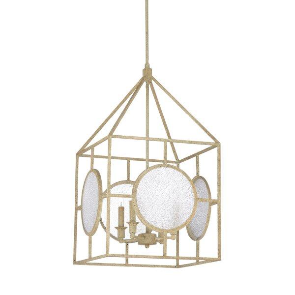 4 - Light Lantern Rectangle Chandelier by Wildwood Wildwood