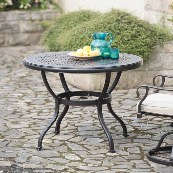 Suellen 3 Piece Dining Set with Sunbrella Cushions by Fleur De Lis Living