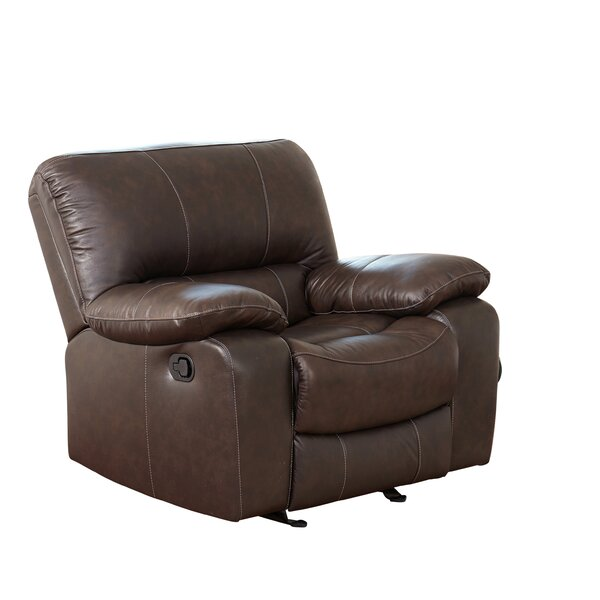 Husebye Leather Manual Rocker Recliner by Latitude Run