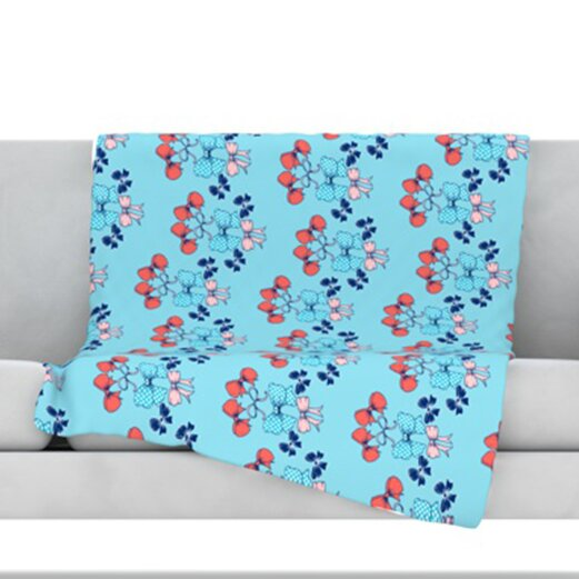 Bows Throw Blanket by KESS InHouse