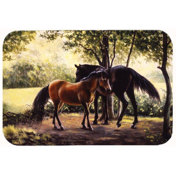 Horses by Daphne Baxter Kitchen/Bath Mat by Caroline's Treasures