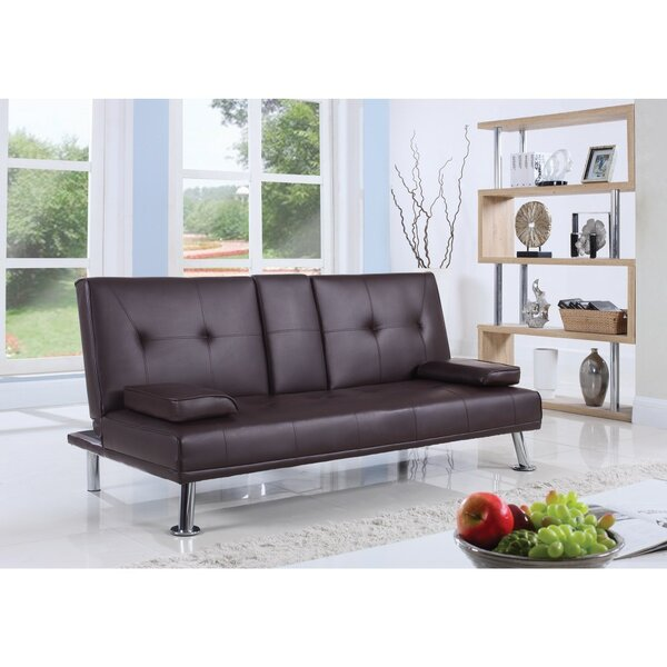 Casten Polyurethane Convertible Sofa by Latitude Run