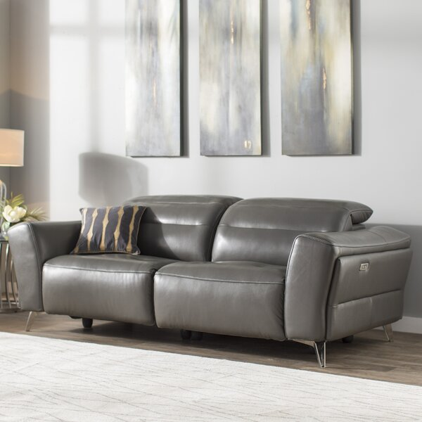 New Design Paille Leather Reclining Sofa by Orren Ellis by Orren Ellis