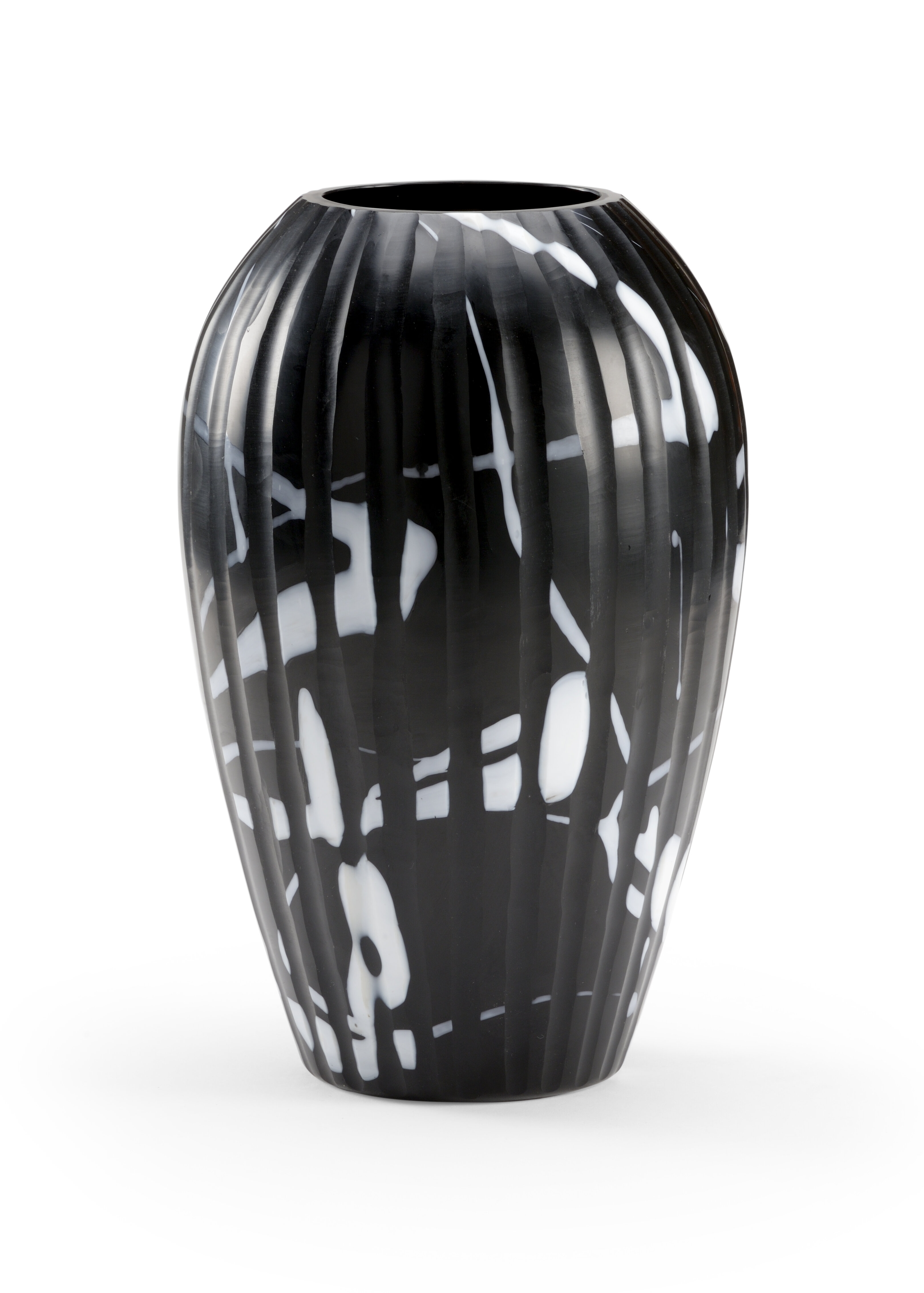 Wildwood Black White 14 Glass Table Vase Wayfair