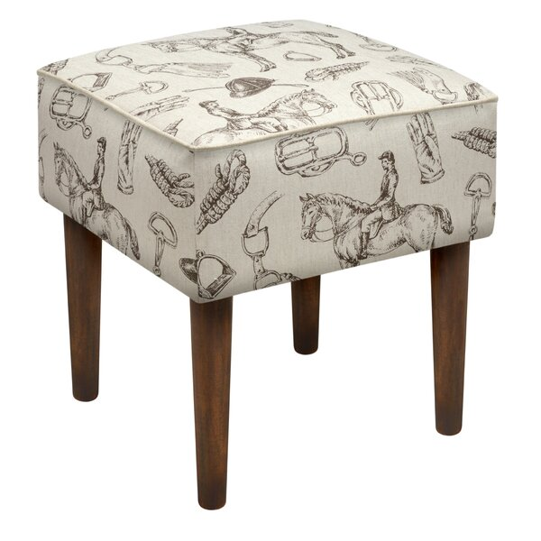 Equestrian Upholstered Vanity Stool by 123 Creations