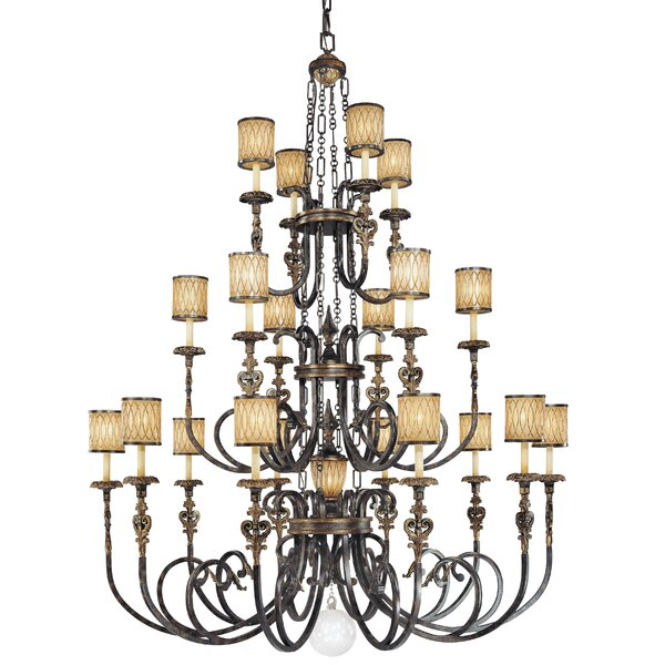 Terraza Villa 21 - Light Shaded Tiered Chandelier By Metropolitan By Minka