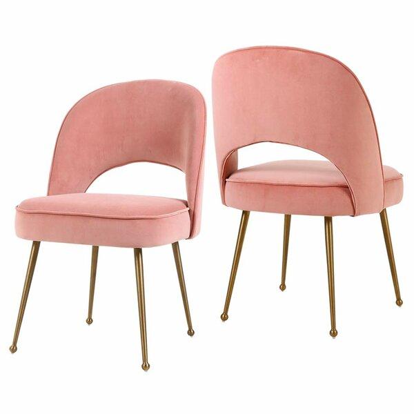 Palomo Velvet Side Chair (Set of 2) by Mercer41