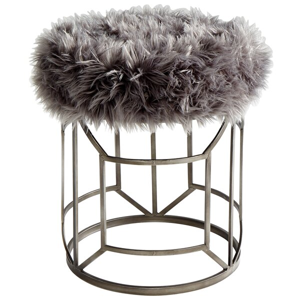 Ushanka Accent Stool by Cyan Design