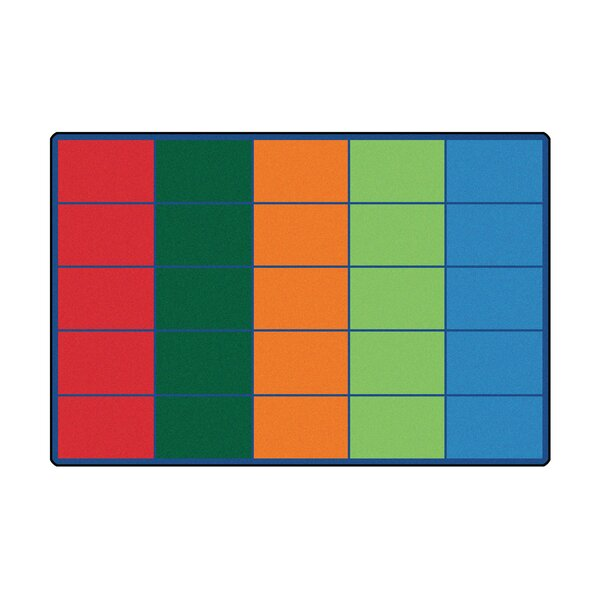 Colorful Rows Seating Area Rug by Carpets for Kids Premium Collection