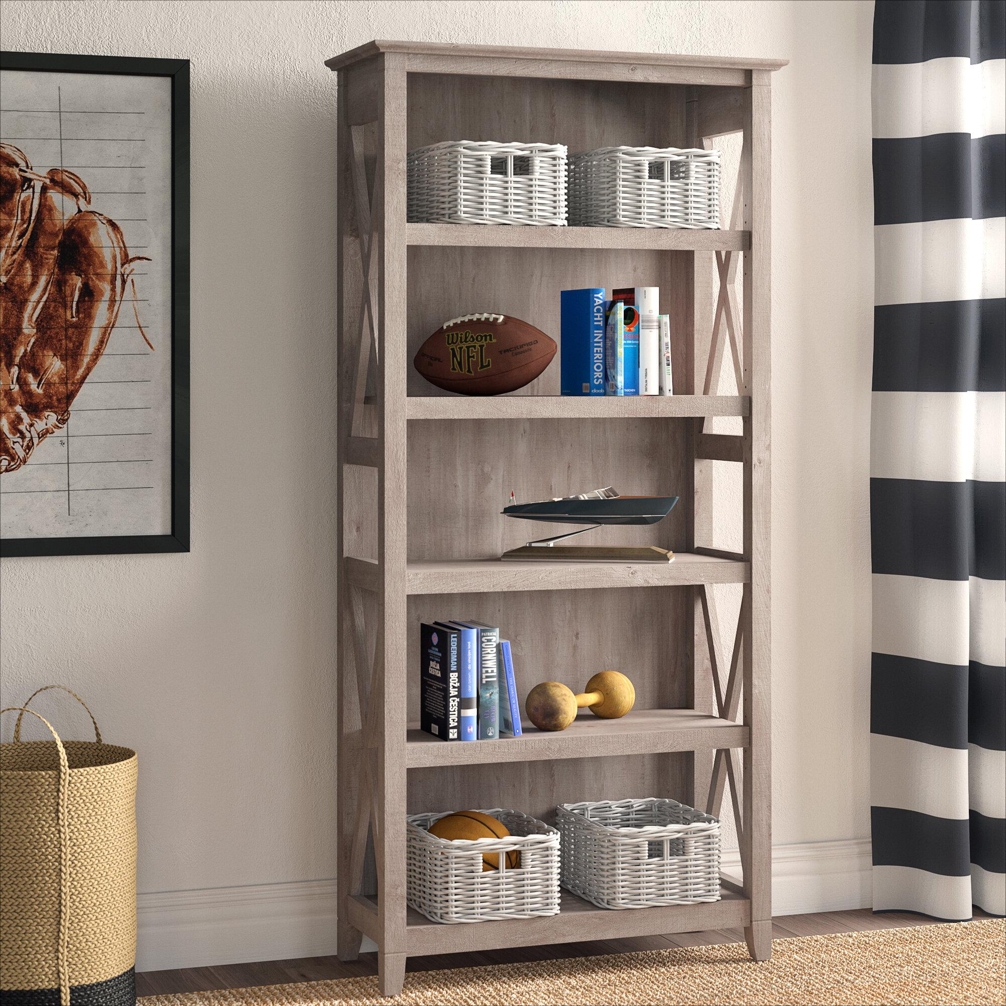 Beachcrest Home Cyra 65 98 H X 31 73 W Standard Bookcase Reviews Wayfair