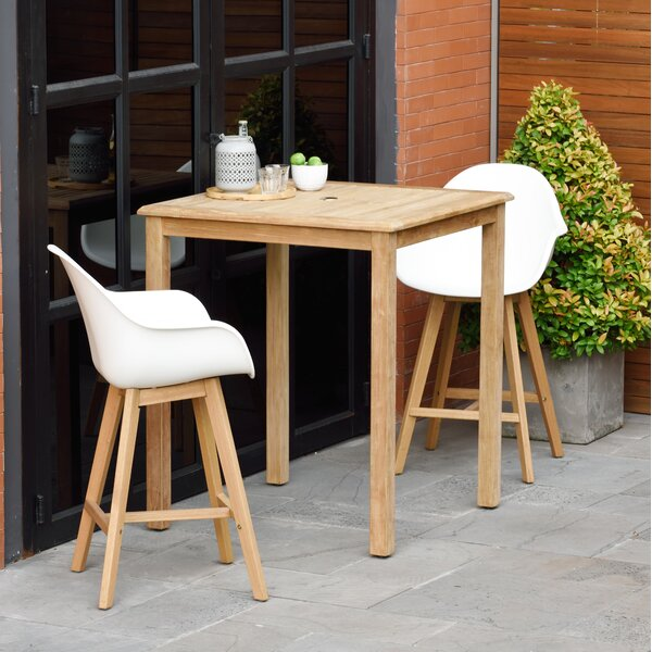 Cruce 3 Piece Bar Height Dining Set with Arms by Corrigan Studio