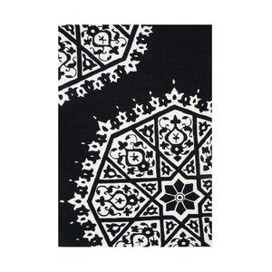 Philomath Hand-Tufted White/Black Area Rug