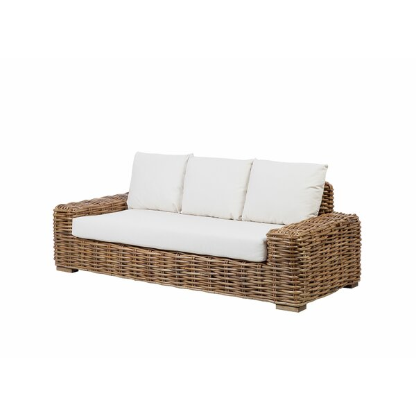 Whipple 2 Piece Rattan Sofa Seating Group with Cushions by Rosecliff Heights