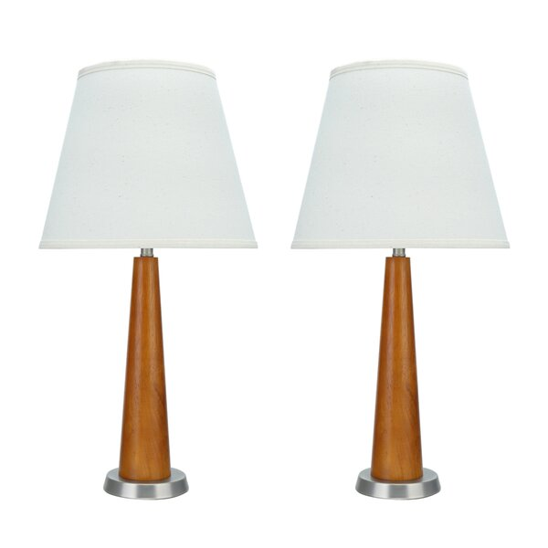 Sermons Transitional Wooden 21.5 Table Lamp (Set of 2) by Latitude Run