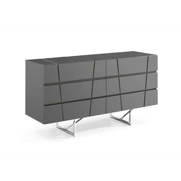 Marisol Modern 6 Drawer Double Dresser by Orren Ellis