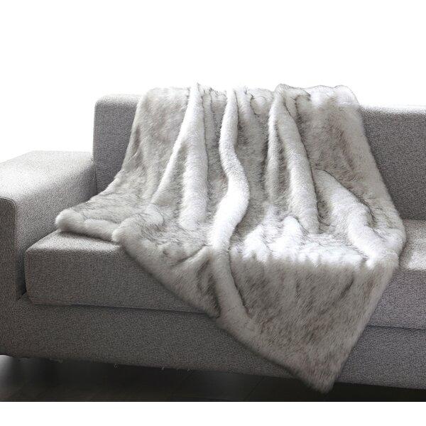 Thiele Luxury Tip Dye Faux Fur Throw by Mistana