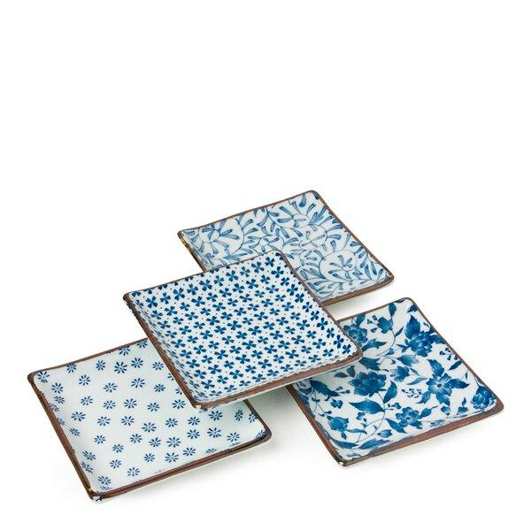 4-Piece Square Small Platter by Miya Company
