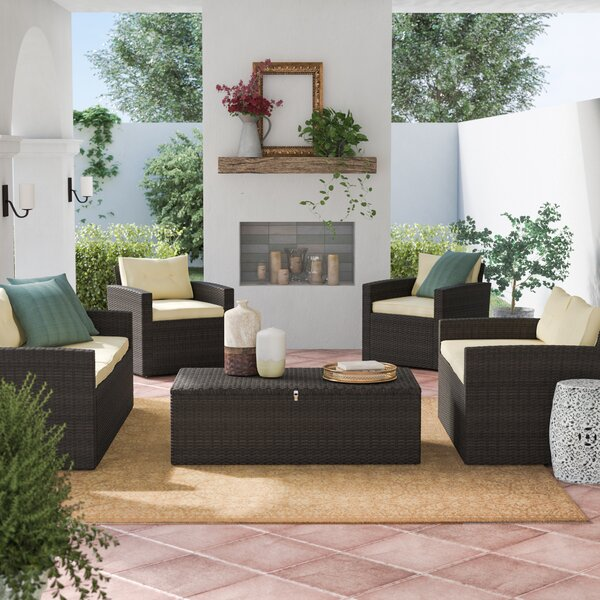 Garmon 5 Piece Sofa Set with Cushions by Charlton