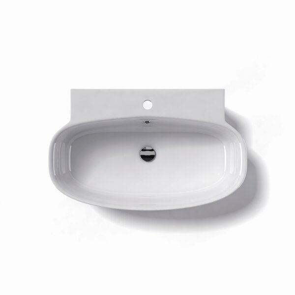 Grace Ceramic 30 Wall Mount Bathroom Sink with Overflow by WS Bath Collections