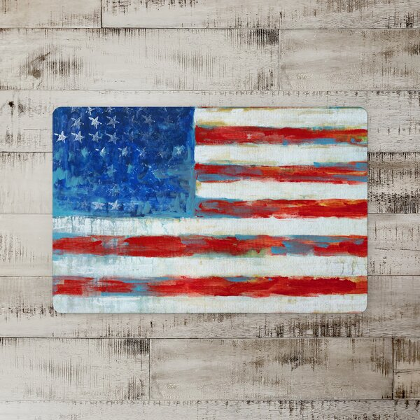 Rittman Rough Painted Flag Kitchen Mat