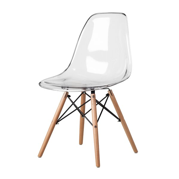 Mikesell Mid-Century Plastic Side Chair by Wrought Studio Wrought Studio