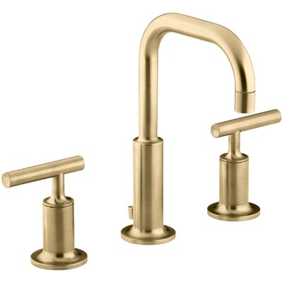 Faucet Drain Low Handles Low Moderne Brushed Gold photo