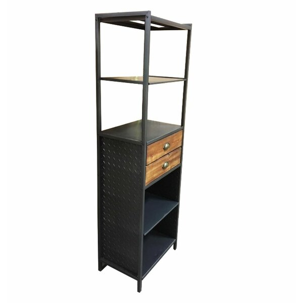 Abbas Metal Standard Bookcase By August Grove