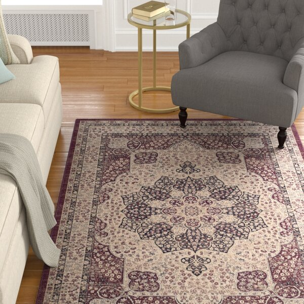 Marion Creme/Red Area Rug by Darby Home Co