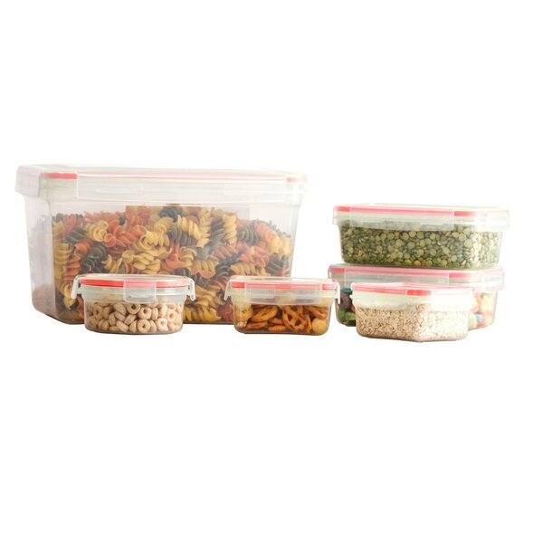 Koeppe BPA Free Plastic 12 Container Food Storage Set by Rebrilliant