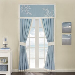 Coastline Semi-Sheer Curtain Panels (Set of 2)