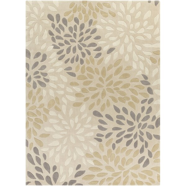 Carrie Hand-Tufted Beige/Khaki Area Rug by Alcott Hill
