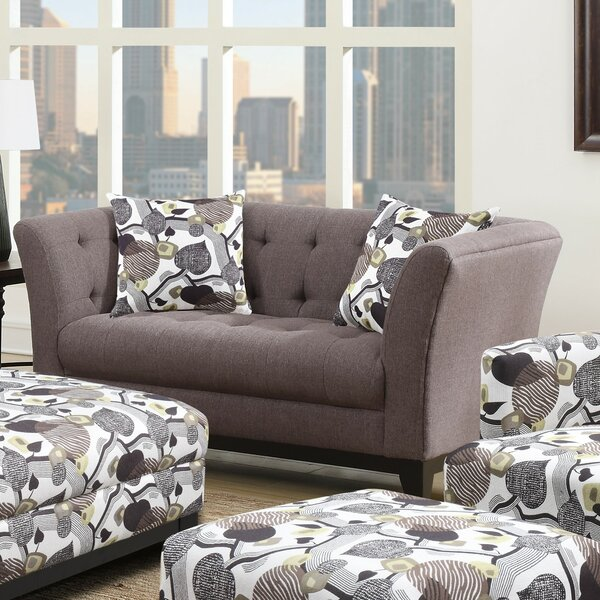 Large Selection Brien Chesterfield Loveseat by Red Barrel Studio by Red Barrel Studio