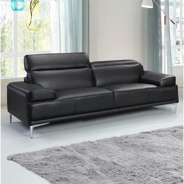Top Recommend Karlin Leather Sofa by Orren Ellis by Orren Ellis
