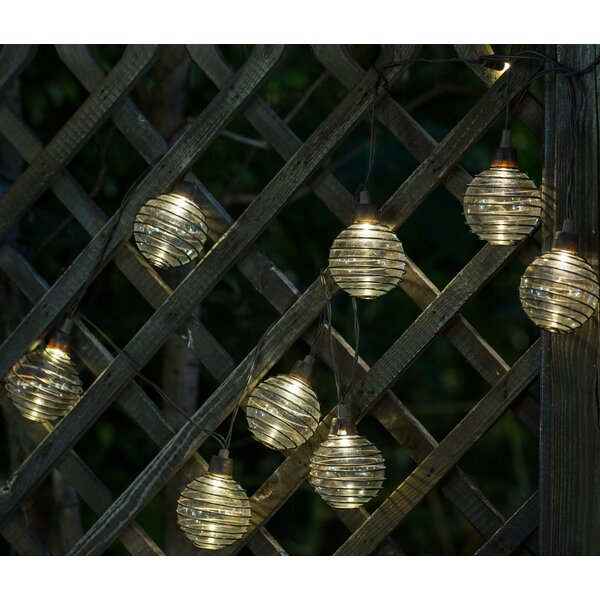 Glass Balls with Metal Wire 10-Light Globe String Lights by Winsome House