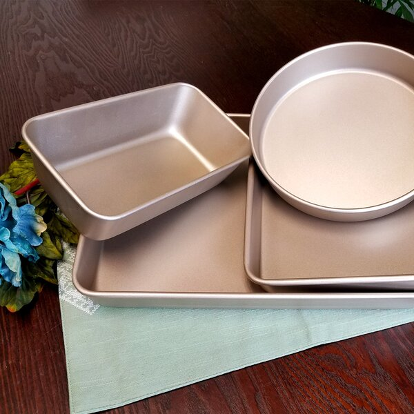 Gale Non-Stick 4 Piece Bakeware Set by Oster