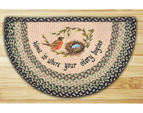 Robins Nest Printed Slice Rug by Earth Rugs